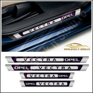 Set Protectie Praguri Opel Vectra - Model 2 - Stickere Auto
