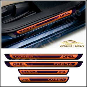 Set Protectie Praguri Opel Corsa Model 2 - Stickere Auto