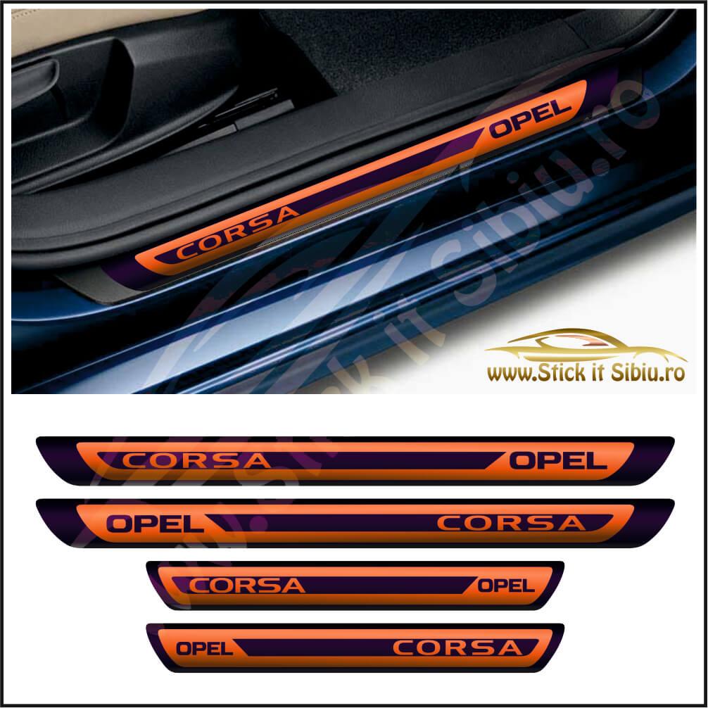 Set Protectie Praguri Opel Corsa Model 2 - Stickere Auto