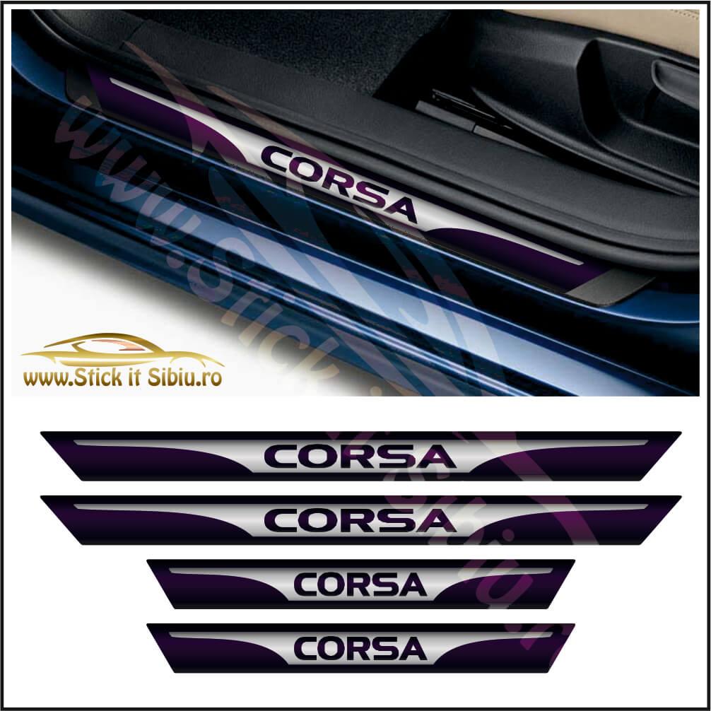 Set Protectie Praguri Opel Corsa Model 3 - Stickere Auto