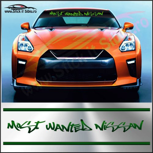 Parasolar Most Wanted Nissan - Stickere Auto