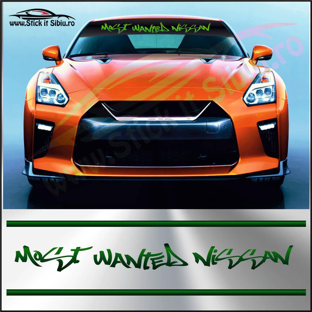 Parasolar Most Wanted Nissan - Stickere Auto