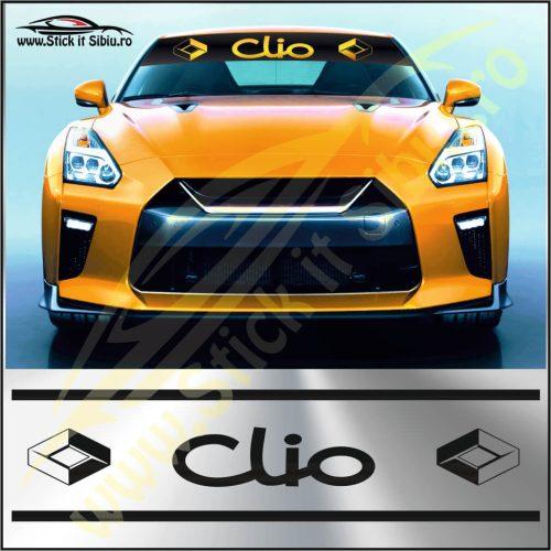 Parasolar Renault Clio - Stickere Auto