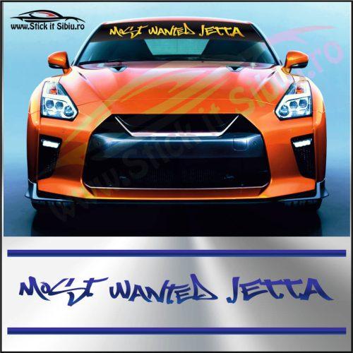 Parasolar Most Wanted Volkswagen Jetta - Stickere Auto