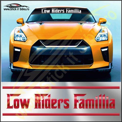 Parasolar Low Riders Famillia - Stickere Auto