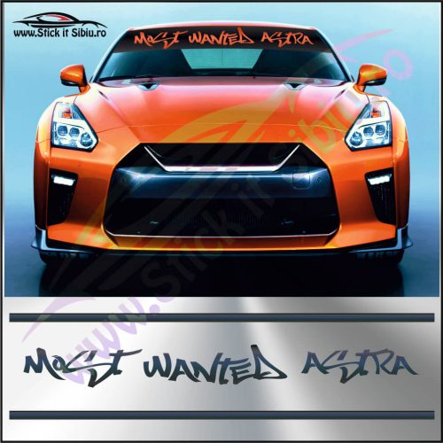 Parasolar Most Wanted Opel Astra - Stickere Auto