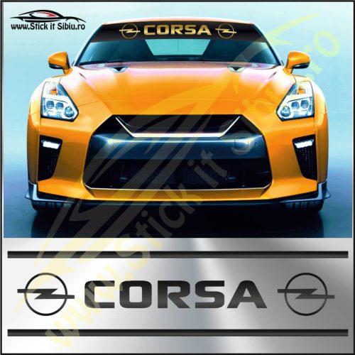 Parasolar Opel Corsa - Stickere Auto