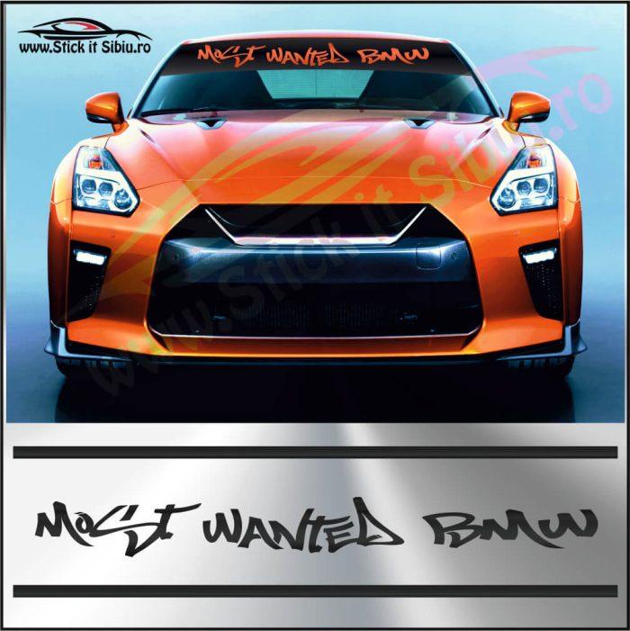Parasolar Most Wanted BMW - Stickere Auto