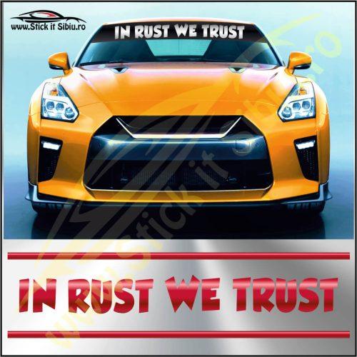 Parasolar In Rust We Trust - Stickere Auto