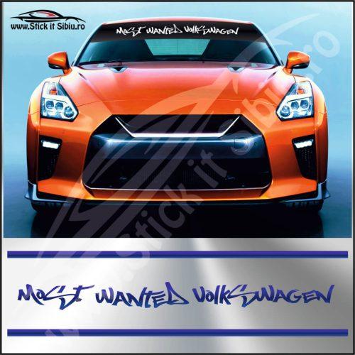 Parasolar Most Wanted Volkswagen - Stickere Auto