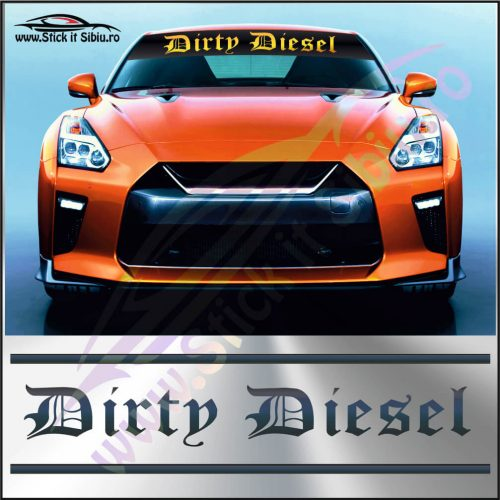 Parasolar Dirty Diesel - Stickere Auto