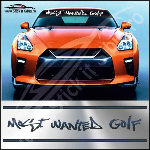 Parasolar Most Wanted Volkswagen Golf - Stickere Auto