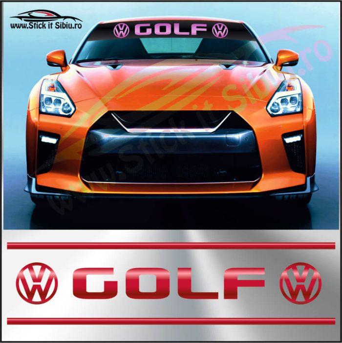 Parasolar Volkswagen Golf - Stickere Auto