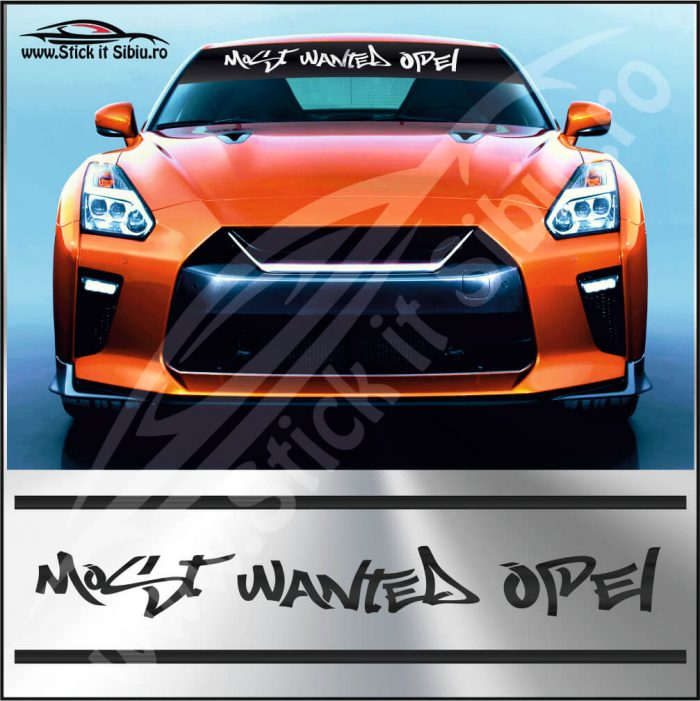 Parasolar Most Wanted Opel - Stickere Auto