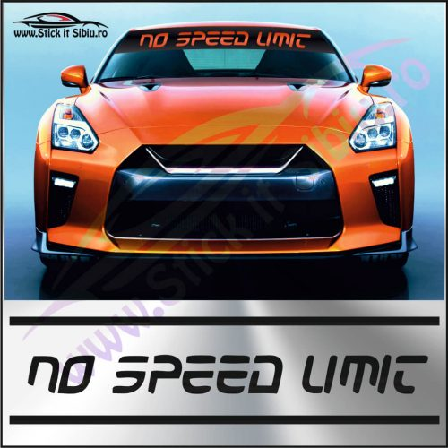 Parasolar No Speed Limit - Stickere Auto