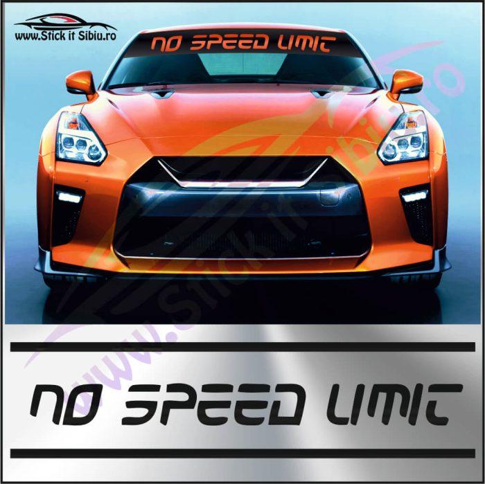 Parasolar No Speed Limit - Stickere Auto