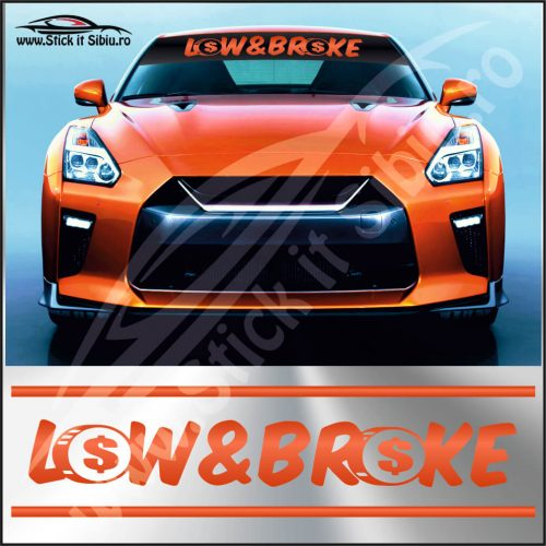 Parasolar Low And Broke - Stickere Auto