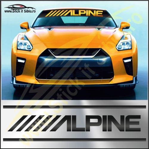 Parasolar Alpine - Stickere Auto