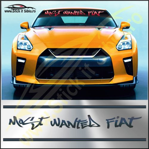 Parasolar Most Wanted Fiat - Stickere Auto