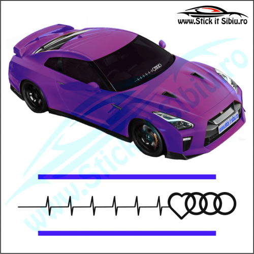 Sticker Central Parbriz-AUDI PULS - Stickere Auto