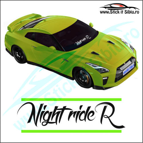 Sticker Central Parbriz-NIGHT RIDER - Stickere Auto