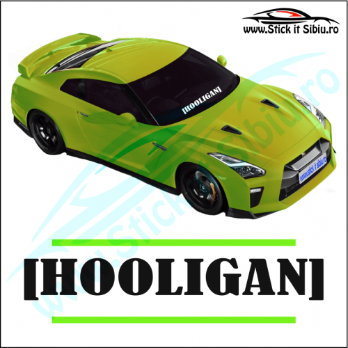 Sticker Central Parbriz-HOOLIGAN - Stickere Auto