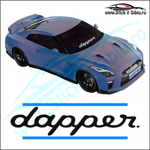 Sticker Central Parbriz-DAPPER - Stickere Auto