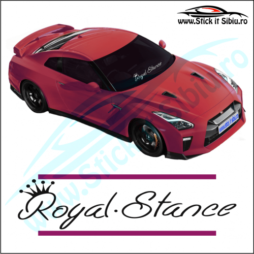 Sticker Central Parbriz-ROYAL STANCE - Stickere Auto