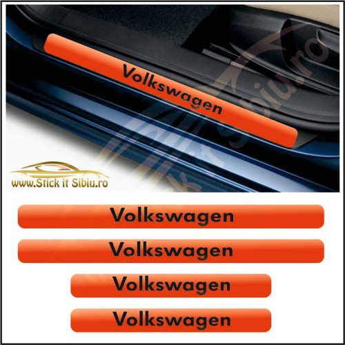 Set Protectie Praguri Volkwagen-Model 9 - Stickere Auto