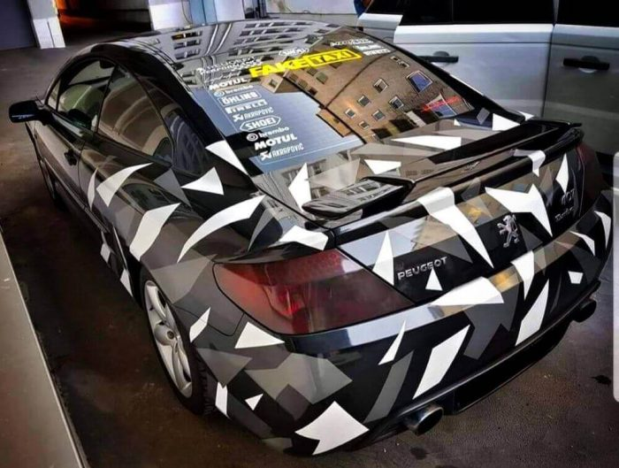 Pachet Camuflaj Geo Winter Prime - Stickere Auto