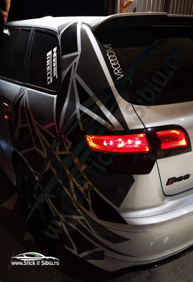 Pachet Camuflaj Geo Winter Prime V4 + Set 2 Dungi Racing - Stickere Auto 1