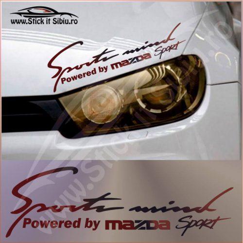 Sticker Far-Sports Mind-Mazda - Stickere Auto