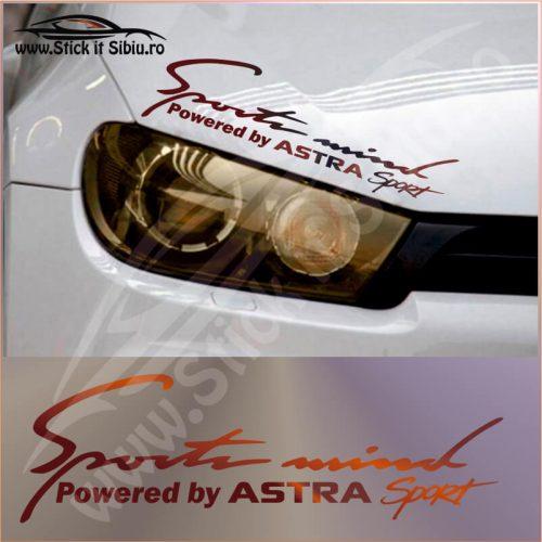 Sticker Far-Sports Mind-Opel Astra - Stickere Auto