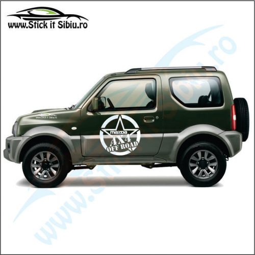 Sticker 4X4 Off Road Mazda Model 1 - Stickere Auto