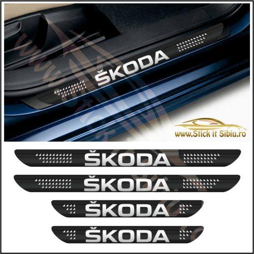 Set Protectie Praguri Skoda-Model 6 - Stickere Auto