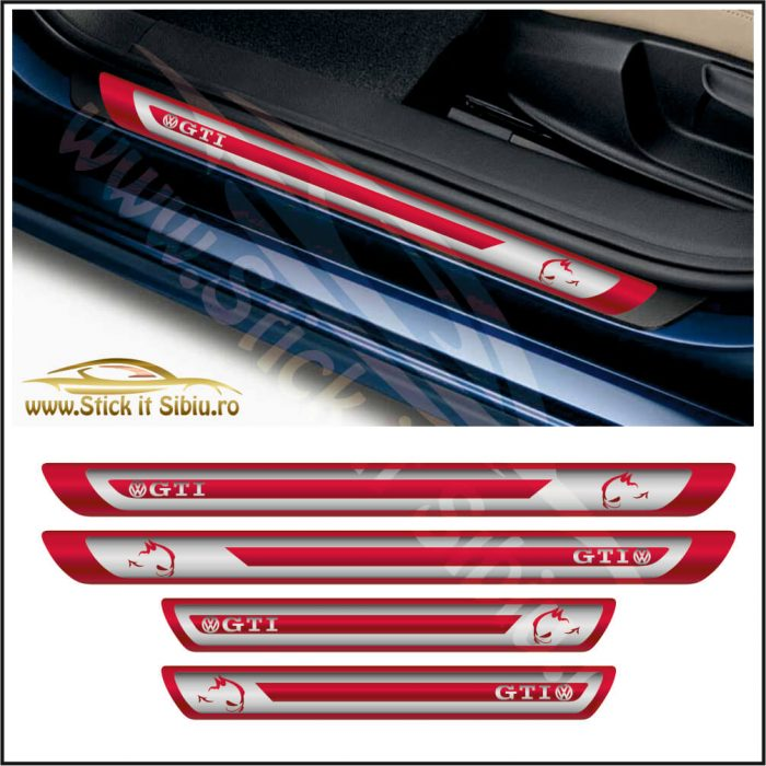 Set Protectie Praguri Volkswagen Golf GTI Model 1 - Stickere Auto