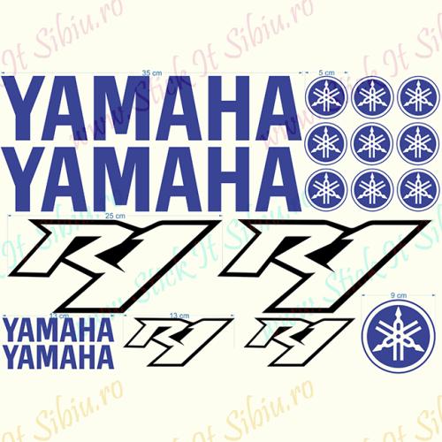 Yamaha Set-Model 1 - Stickere Auto - Moto