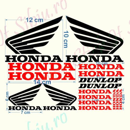 Set Honda-Model 1 - Stickere Auto - Moto