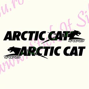 Set Arctic Cat-Model 2 - Stickere Auto - Moto