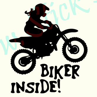 Biker Inside-Model 1 - Stickere Auto