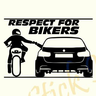Respect For Bikers - Stickere Auto