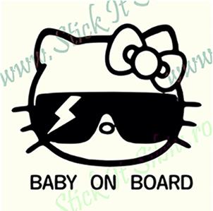 Baby on Board - Model 1 - Stickere Auto