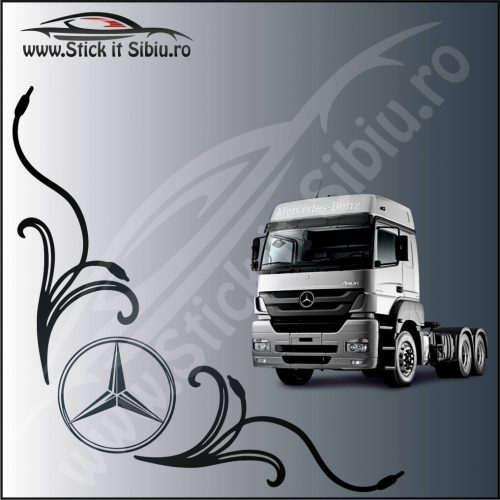 Stickere Geam TIR-Camion Mercedes Model 9 - Stickere Auto