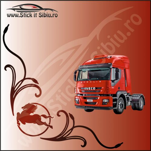 Stickere Geam TIR-Camion Iveco Model 9 - Stickere Auto
