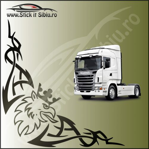 Stickere Geam TIR-Camion Scania Model 16 - Stickere Auto