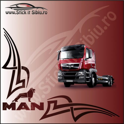 Stickere Geam TIR-Camion Man Model 6 - Stickere Auto