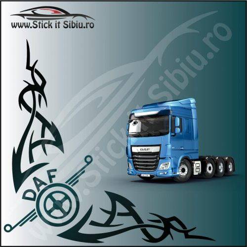 Stickere Geam TIR-Camion Daf Model 5 - Stickere Auto