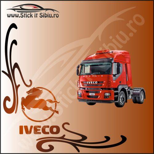 Stickere Geam TIR-Camion Iveco Model 12 - Stickere Auto