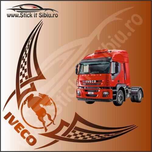 Stickere Geam TIR-Camion Iveco Model 14 - Stickere Auto