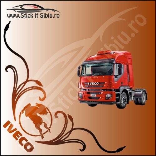 Stickere Geam TIR-Camion Iveco Model 20 - Stickere Auto